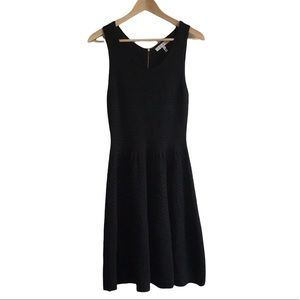 Sandro Knitted Sleeveless Black Fit and Flare Wool Blend Mini Dress, size 2=M